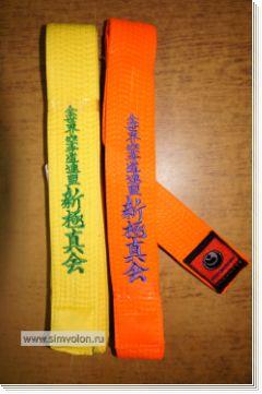 Пояс П2 шинкёкушинкай с вышивкой