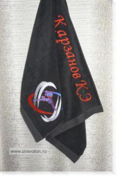 Полотенце махровое с вышивкой КИКБОКСИНГ 40х70